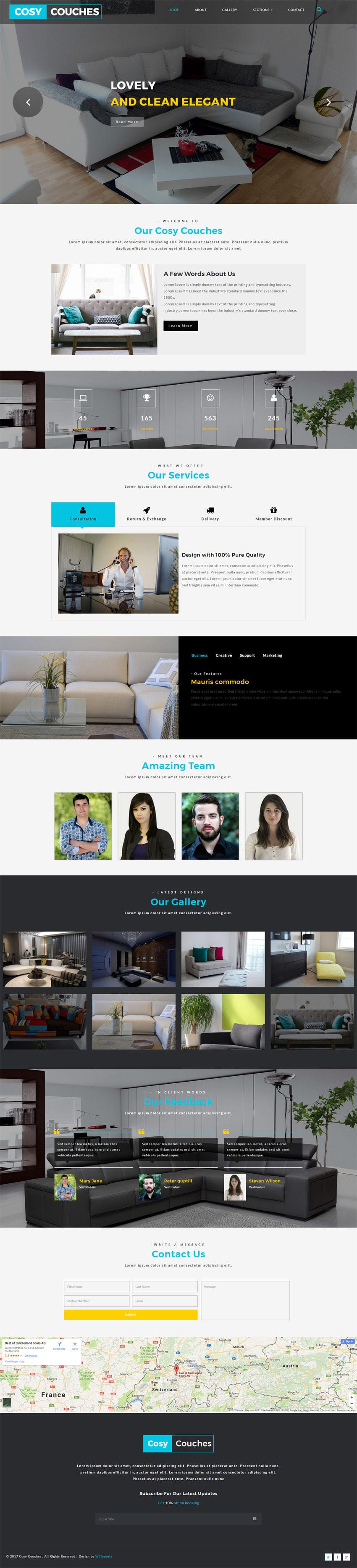 Cosy Couches an Interior Category Bootstrap Responsive Web Template