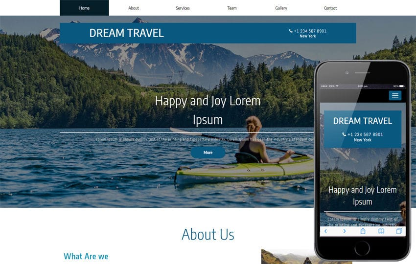 Dream Travel a Travel Category Bootstrap Responsive Web Template Mobile website template Free