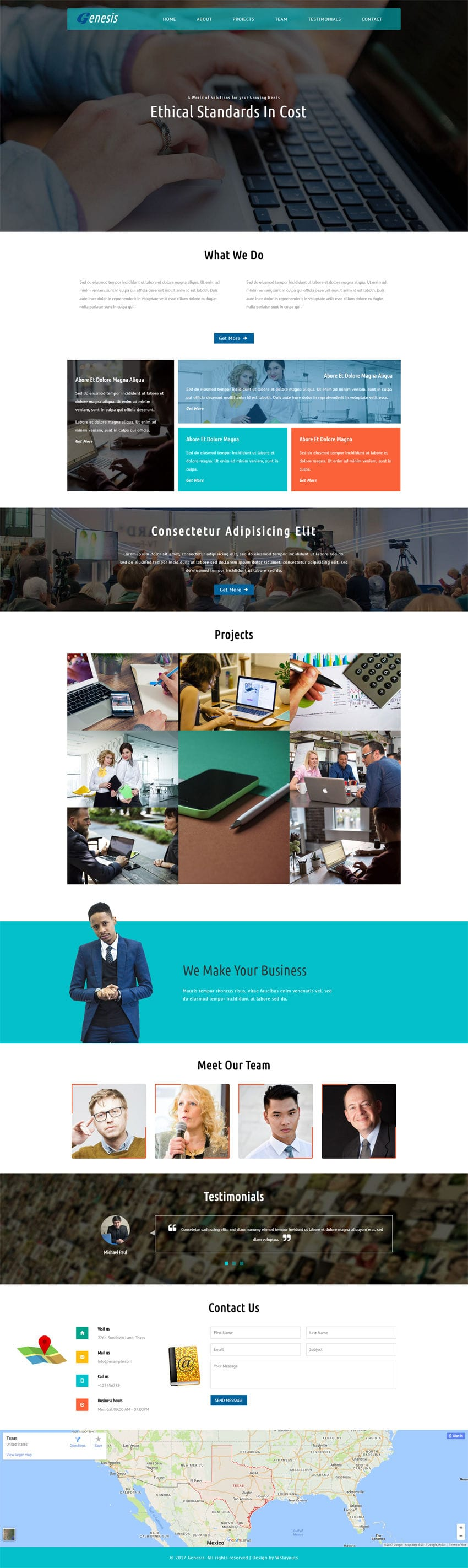 Genesis a Corporate Category Flat Bootstrap Responsive Web