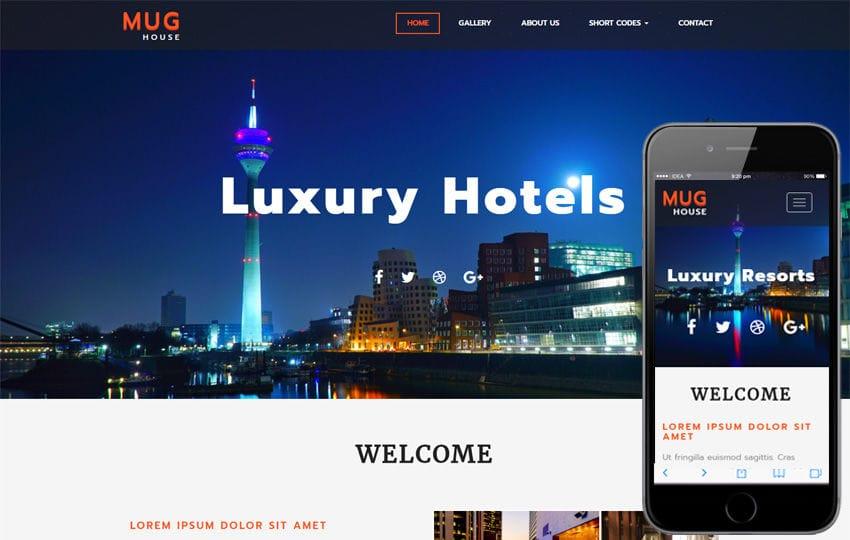 Mug House a Hotel Category Bootstrap Responsive Web Template Mobile website template Free