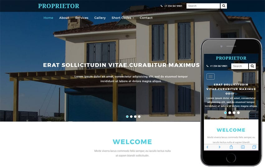 Proprietor a Real Estate Category Bootstrap Responsive Web Template Mobile website template Free