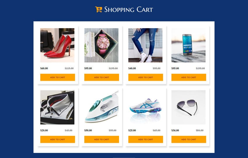 Shopping Cart a Flat Responsive Widget Template Mobile website template Free