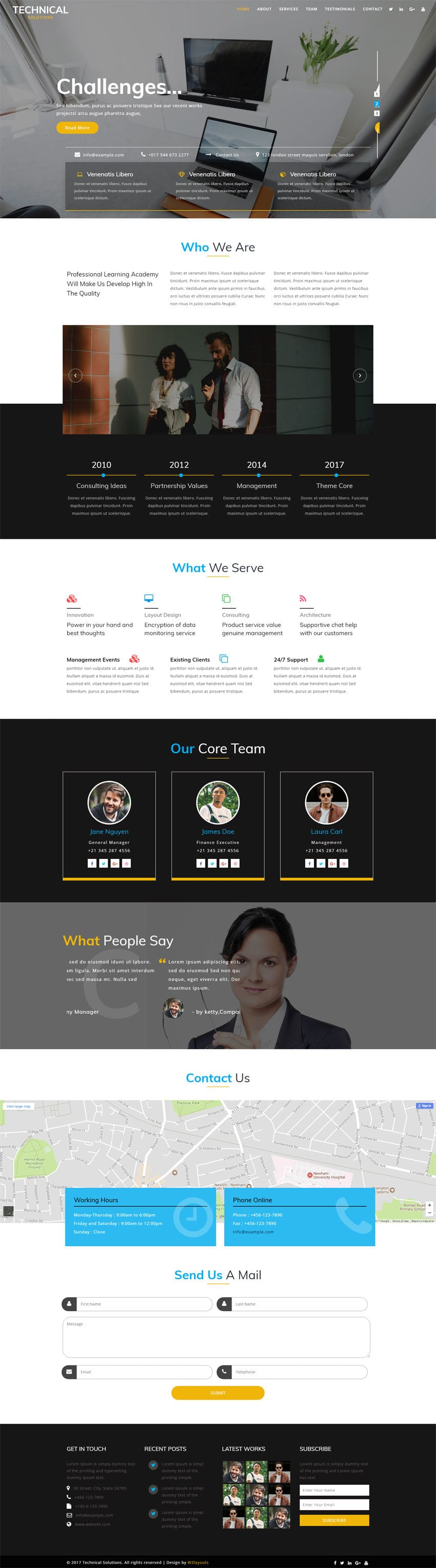 Technical Solutions A Corporate Category Bootstrap Responsive Web