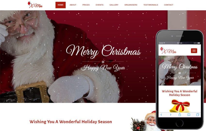 Xmas an Entertainment Category Bootstrap Responsive Web Template Mobile website template Free
