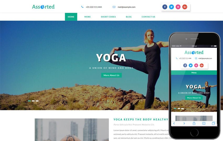 Assorted Multipurpose Bootstrap Responsive Web Template