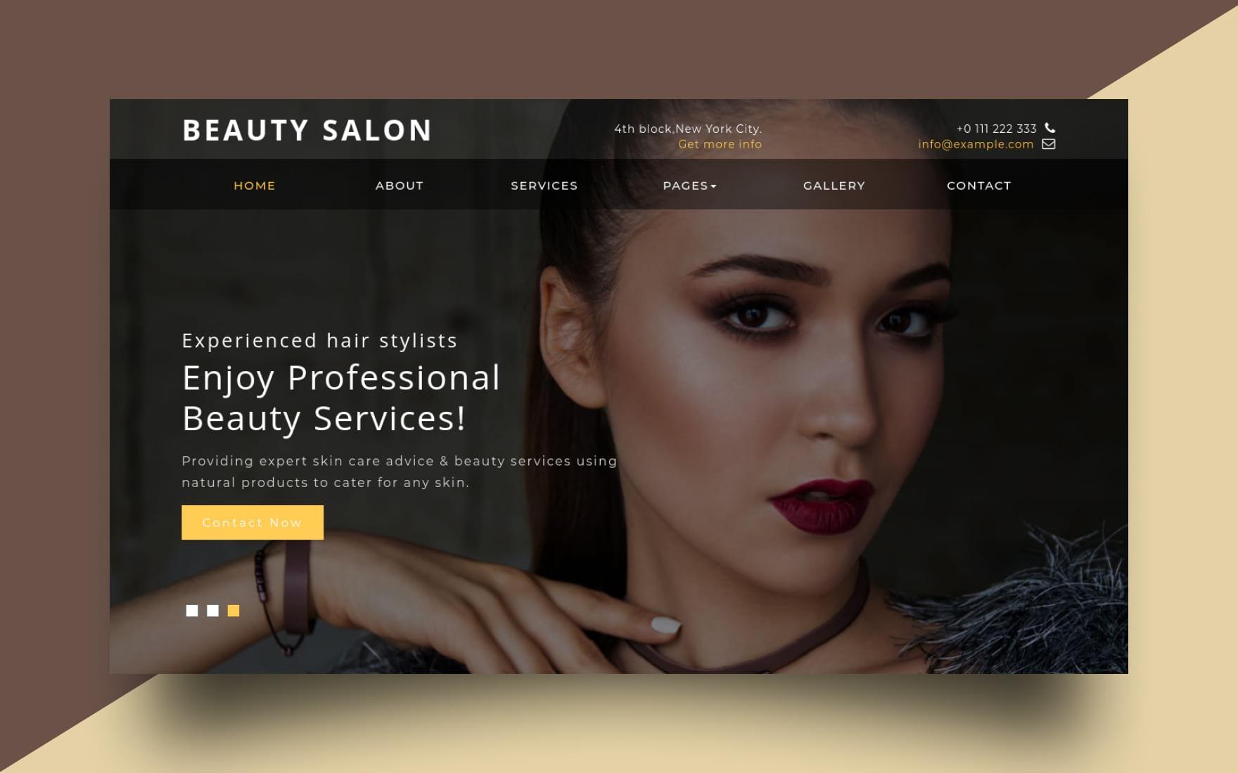 Beauty Salon Website Template Beauty Spa Templates W3layouts