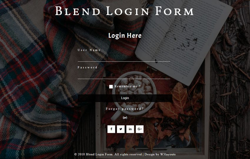 Blend Login Form Flat Responsive Widget Template Mobile website template Free