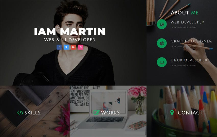Connect CV Personal Category Bootstrap Responsive Web Template Mobile website template Free