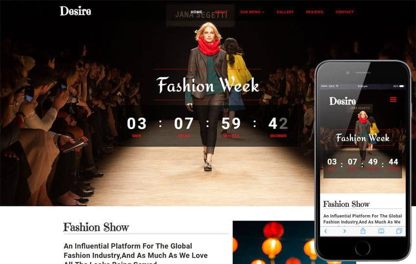 Desire Fashion Category Bootstrap Responsive Web Template Mobile website template Free