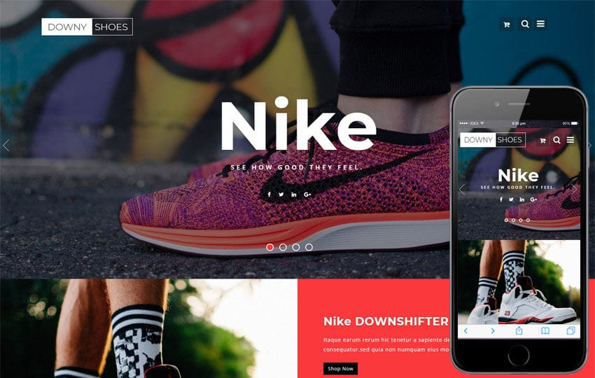 Ecommerce Online Shopping Mobile Website Templates - Medical invoice template authentic online sneaker stores