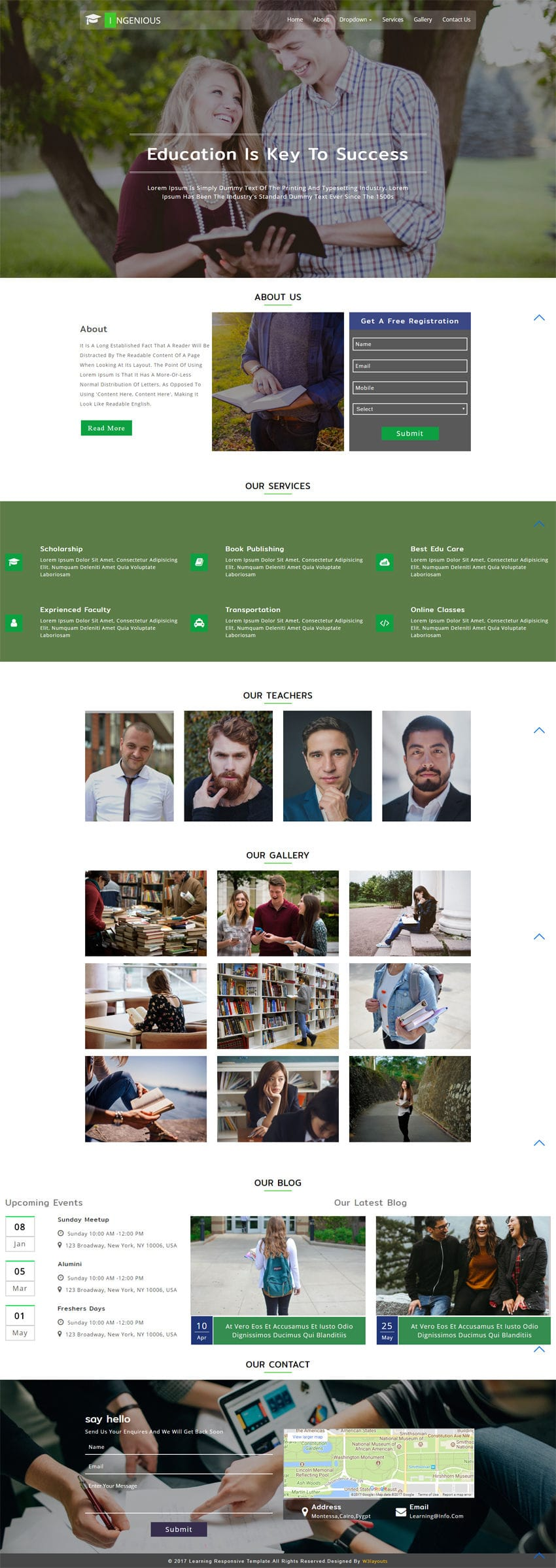 Ingenious Educational Category Bootstrap Responsive Web Template