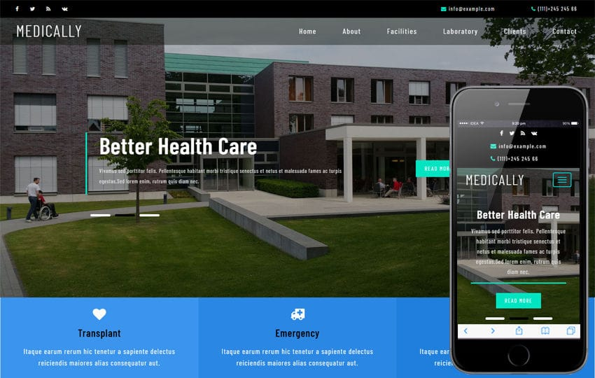 Medically Medical Category Flat Bootstrap Responsive Web Template Mobile website template Free