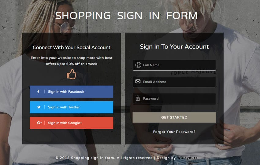 Shopping Sign in Form a Flat Responsive Widget Template Mobile website template Free