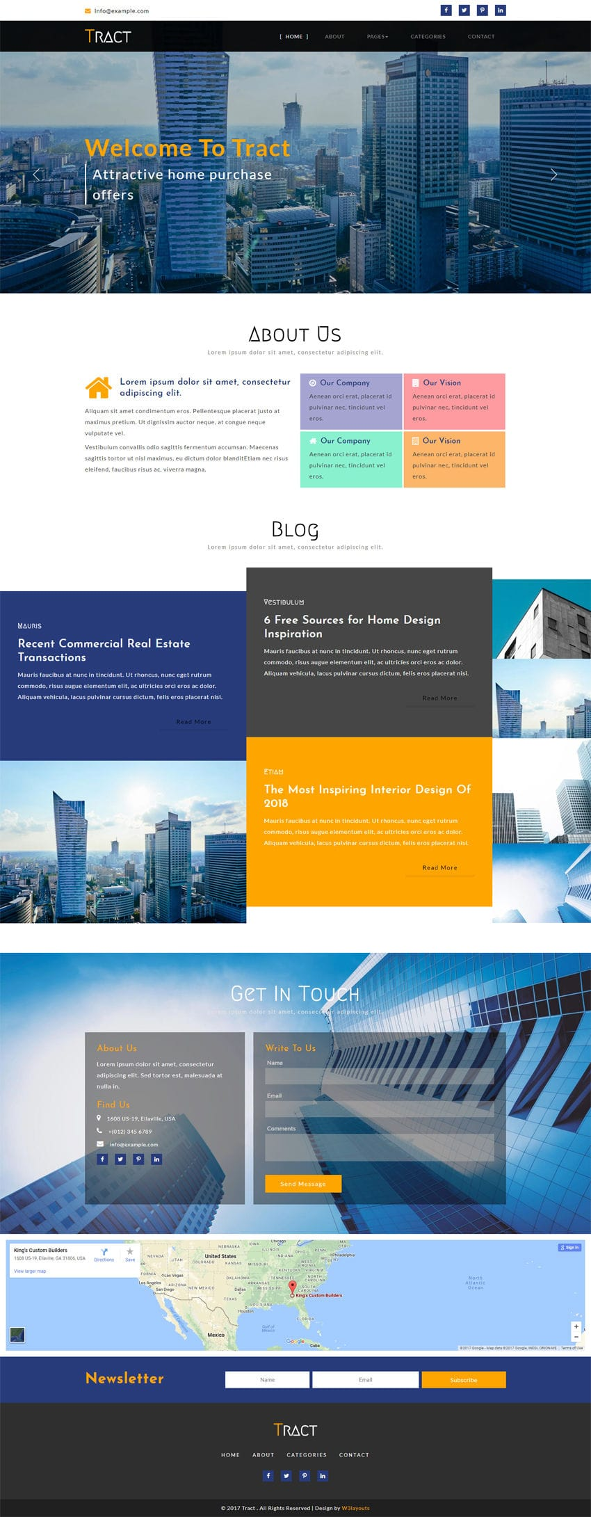 Tract A Real Estate Category Bootstrap Responsive Web Template