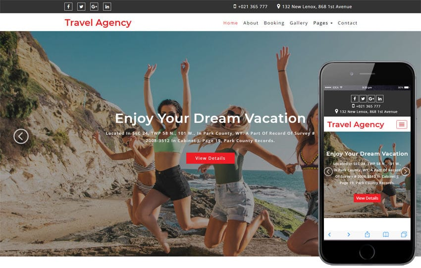 Travel Agency Travel Category Bootstrap Responsive Web Template Mobile website template Free