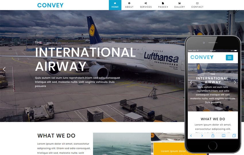 Convey Transportation Category Bootstrap Responsive Web Template Mobile website template Free