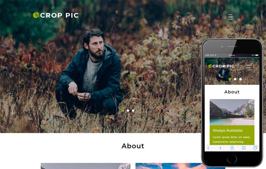 Crop Pic Photo Gallery Category Bootstrap Responsive Web Template Mobile website template Free
