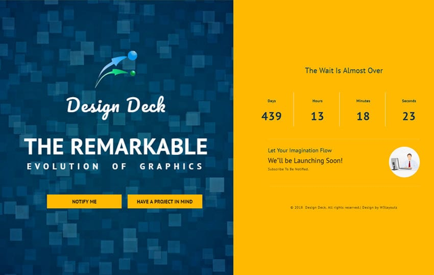 Design Deck Flat Responsive Widget Template Mobile website template Free