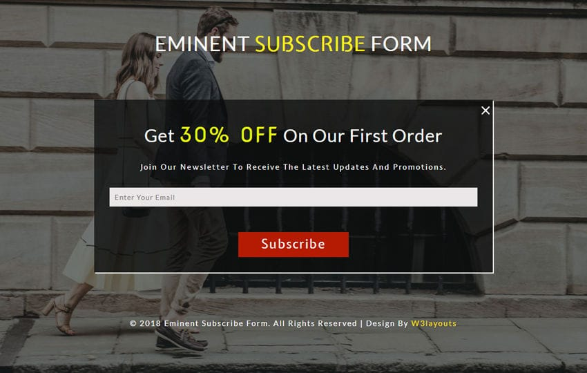Eminent Subscribe Form Responsive Widget Template Mobile website template Free