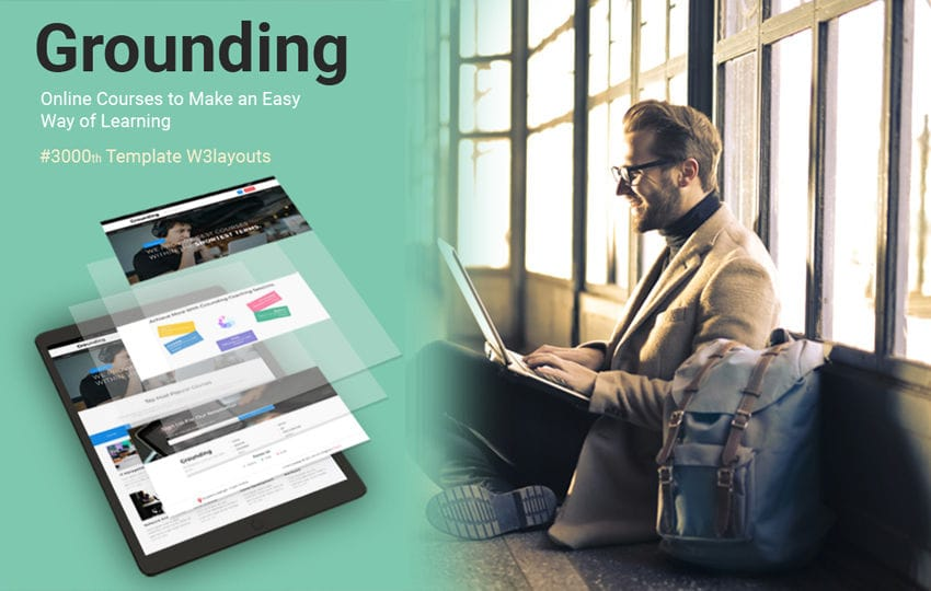 Grounding Education Category Bootstrap Responsive Web Template Mobile website template Free