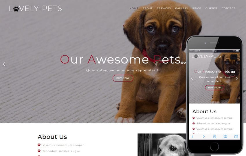 Lovely Pets Animals Category Bootstrap Responsive Web Template Mobile website template Free