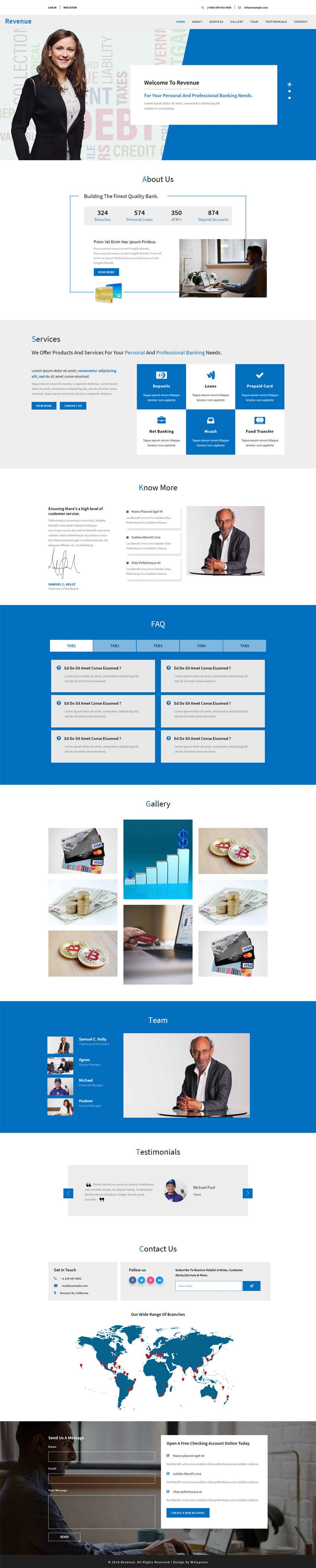 Revenue Banking Category Bootstrap Responsive Web Template  