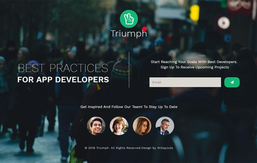 Triumph Flat Responsive Widget Template Mobile website template Free
