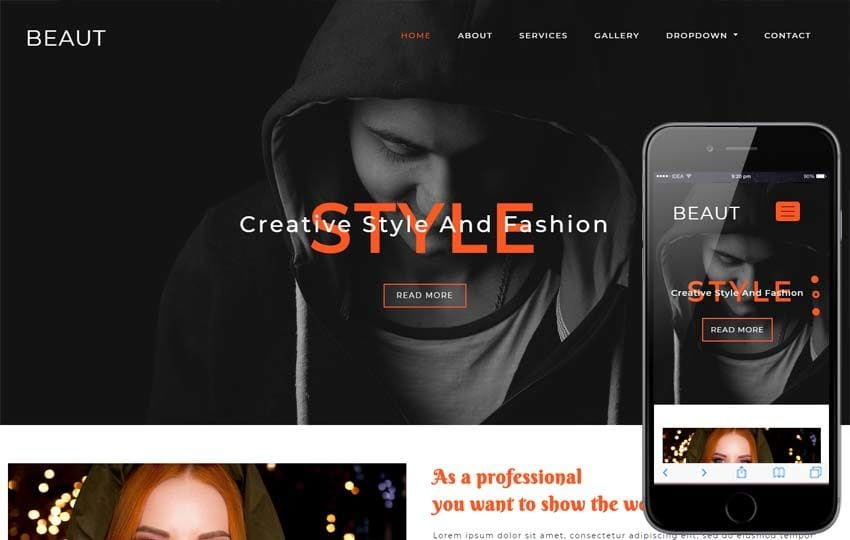 Beaut Fashion Category Bootstrap Responsive Web Template Mobile website template Free