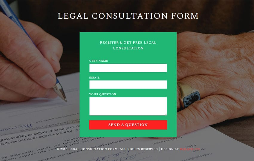 Legal Consultation Form Flat Responsive Widget Template Mobile website template Free