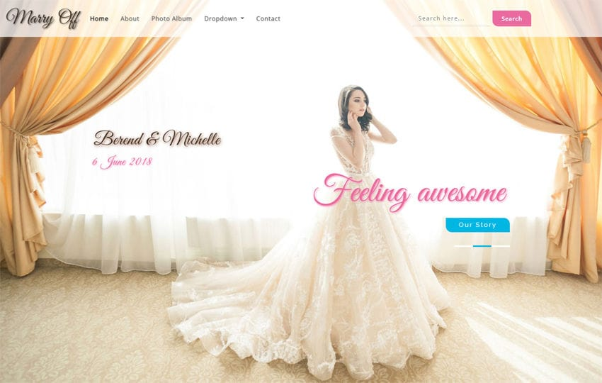 Marry Off Wedding Category Bootstrap Responsive Web Template Mobile website template Free
