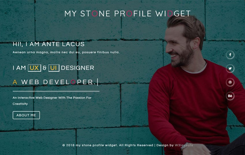 My Stone Profile Responsive Widget Template Mobile website template Free