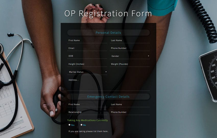 OP Registration Form Flat Responsive Widget Template
