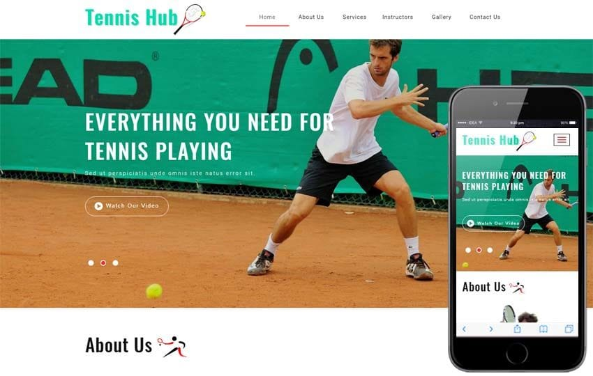 Tennis Hub Sports Category Flat Bootstrap Responsive Web Template Mobile website template Free