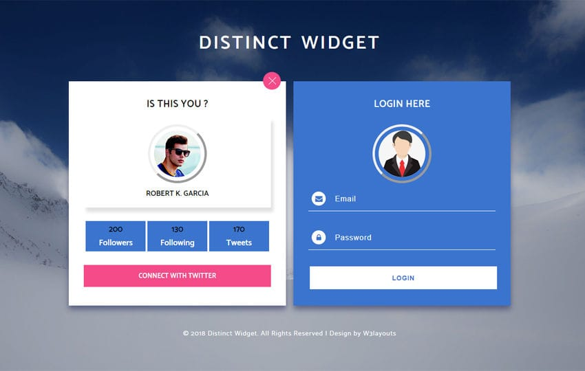 Distinct Widget Flat Responsive Widget Template Mobile website template Free
