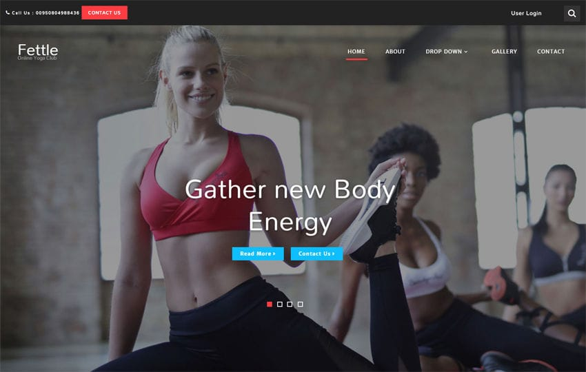 Fettle Sports Category Bootstrap Responsive Web Template Mobile website template Free