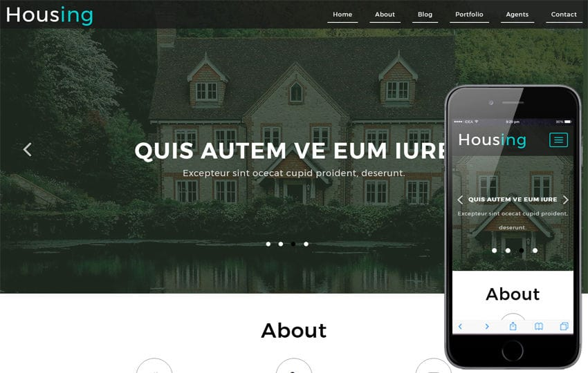 Housing a Real Estate Category Bootstrap Responsive Web Template Mobile website template Free