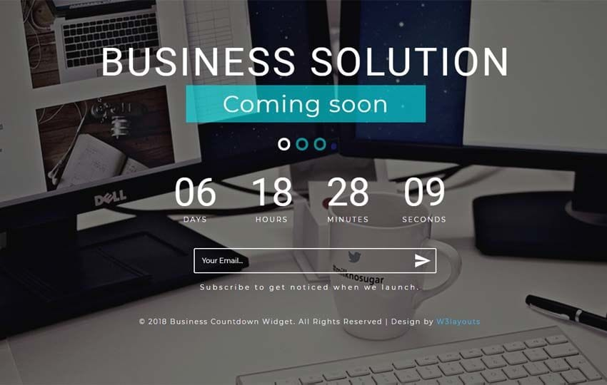 Business Countdown Flat Responsive Widget Template Mobile website template Free