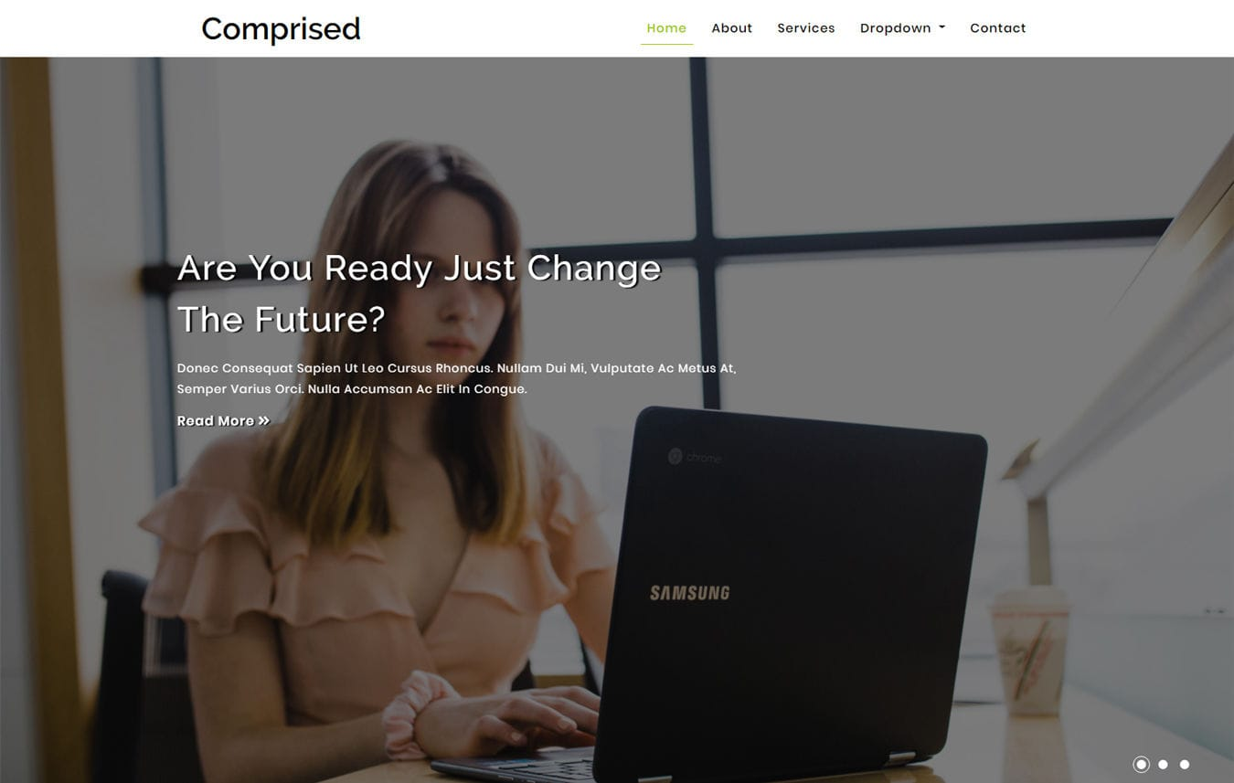 Comprised Corporate Category Bootstrap Responsive Web Template Mobile website template Free