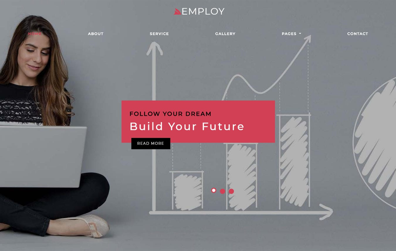 Employ HR Management Bootstrap Responsive Web Template Mobile website template Free