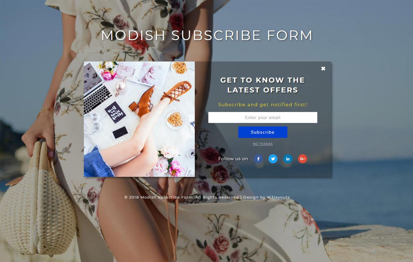 Modish Subscribe Form Flat Responsive Widget Template Mobile website template Free