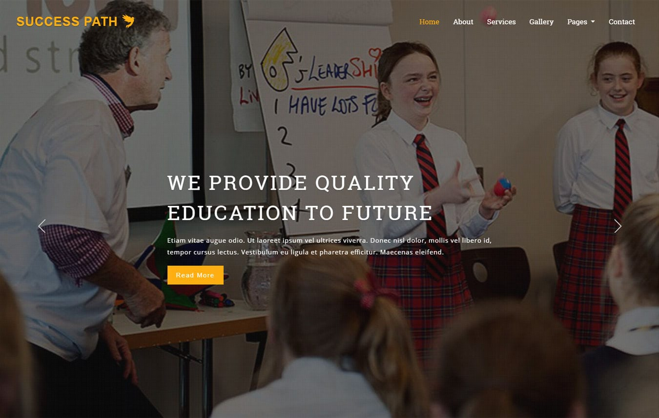 Success Path an Education Category Bootstrap Responsive Web Template Mobile website template Free