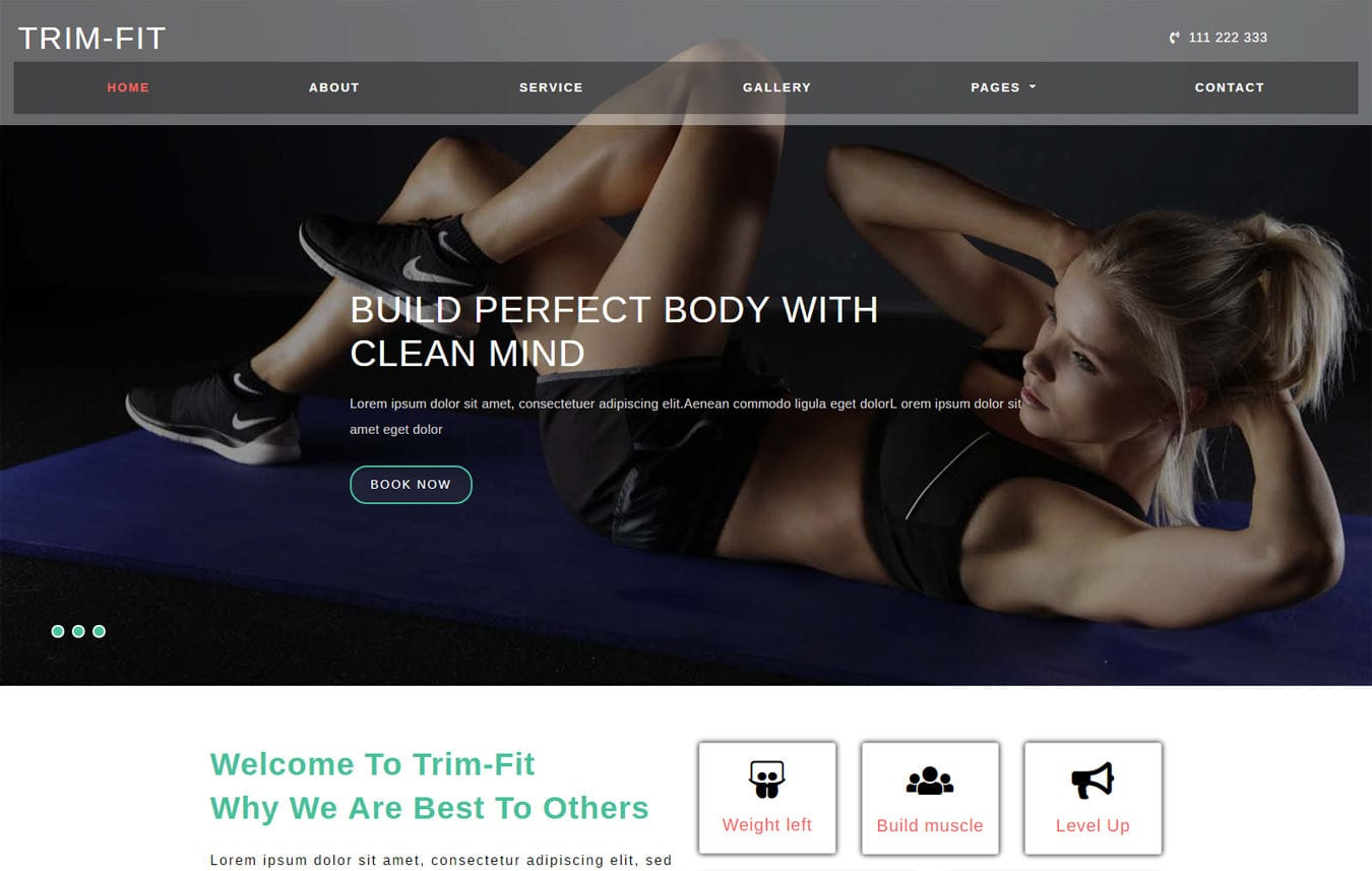 Trim Fit Sports Category Bootstrap Responsive Web Template Mobile website template Free