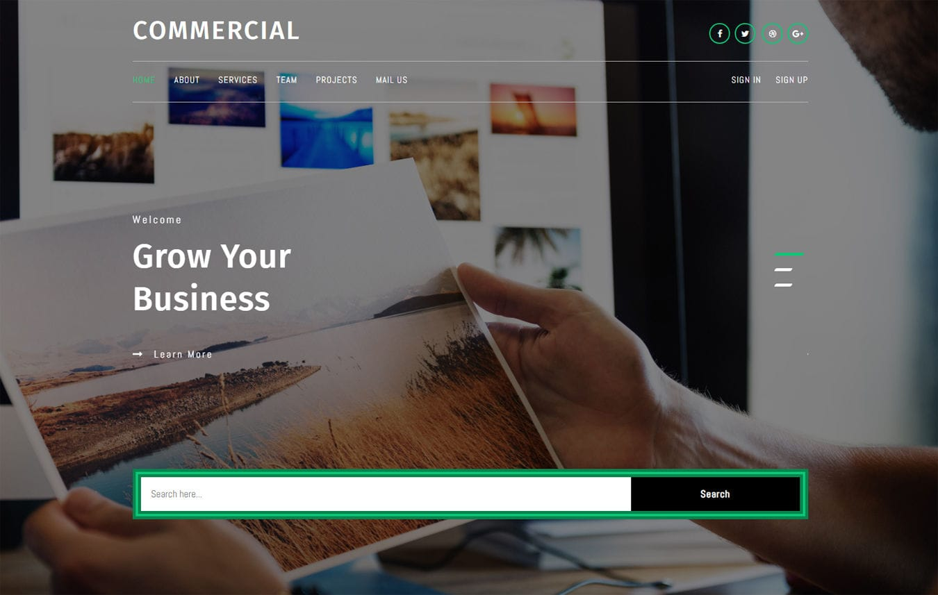 Commercial a Corporate Category Bootstrap Responsive Web Template Mobile website template Free