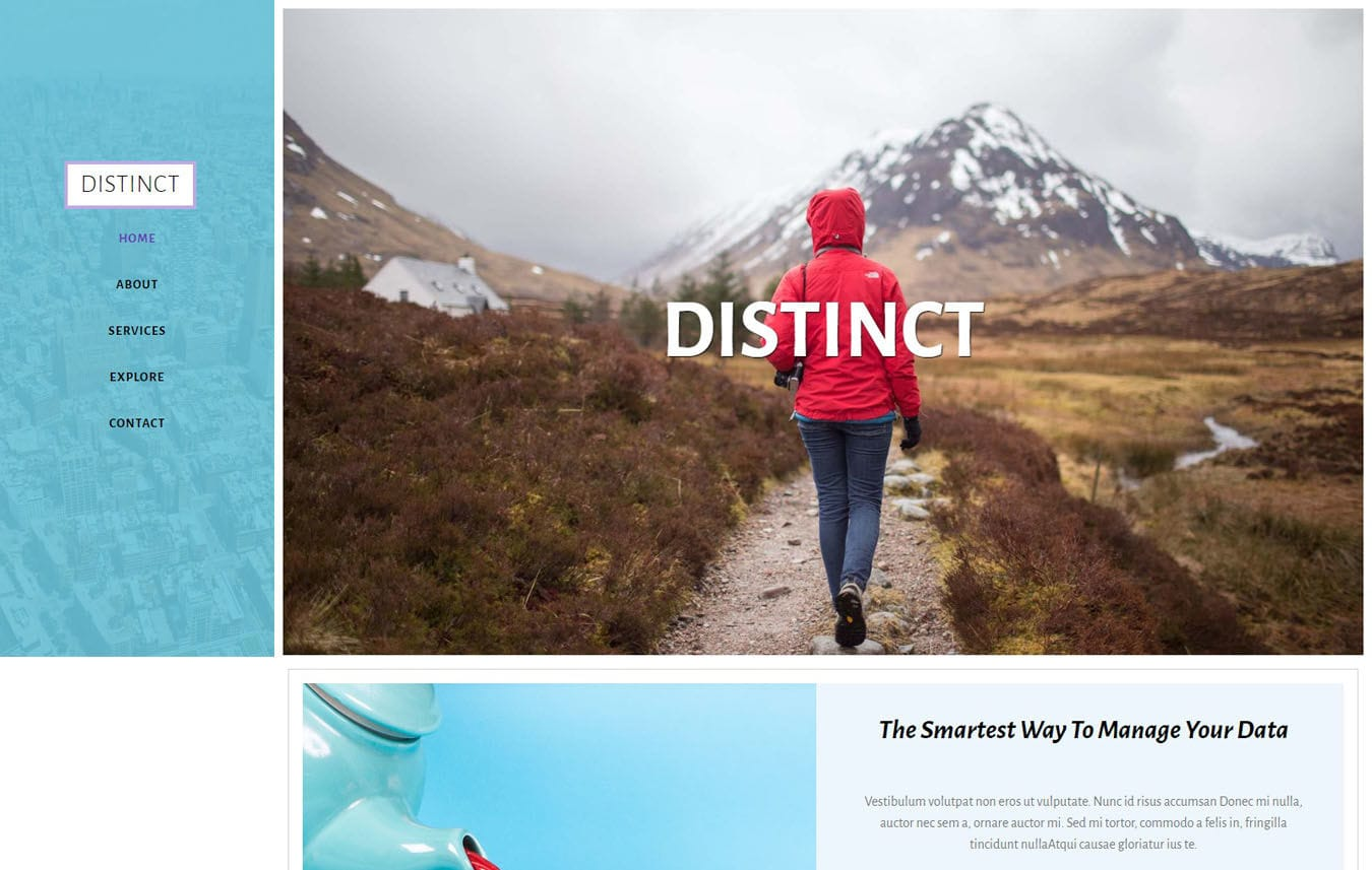 Distinct Multipurpose Category Bootstrap Responsive Web Template. Mobile website template Free