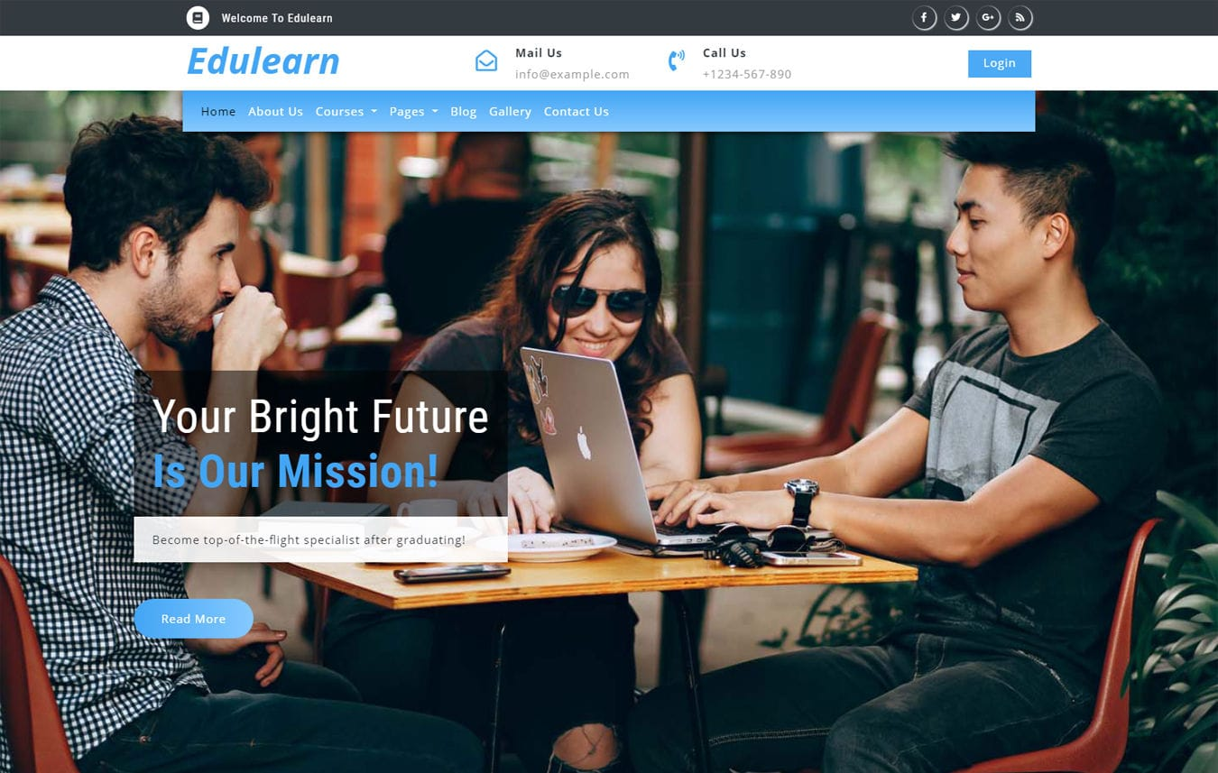 Edulearn an Education Category Bootstrap Responsive Web Template Mobile website template Free