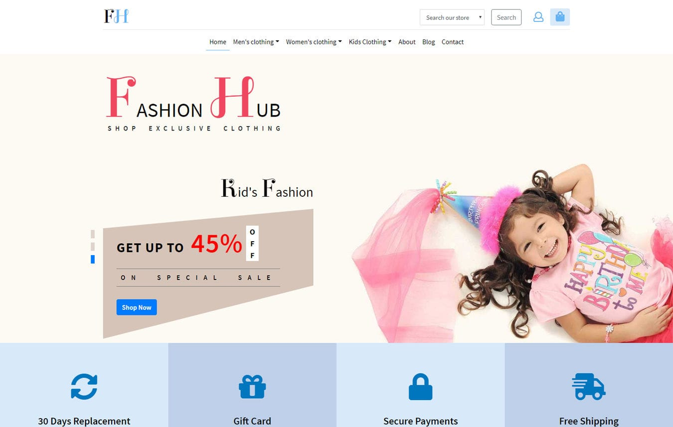 Fashion Hub an E commerce Category Bootstrap Responsive Web Template Mobile website template Free