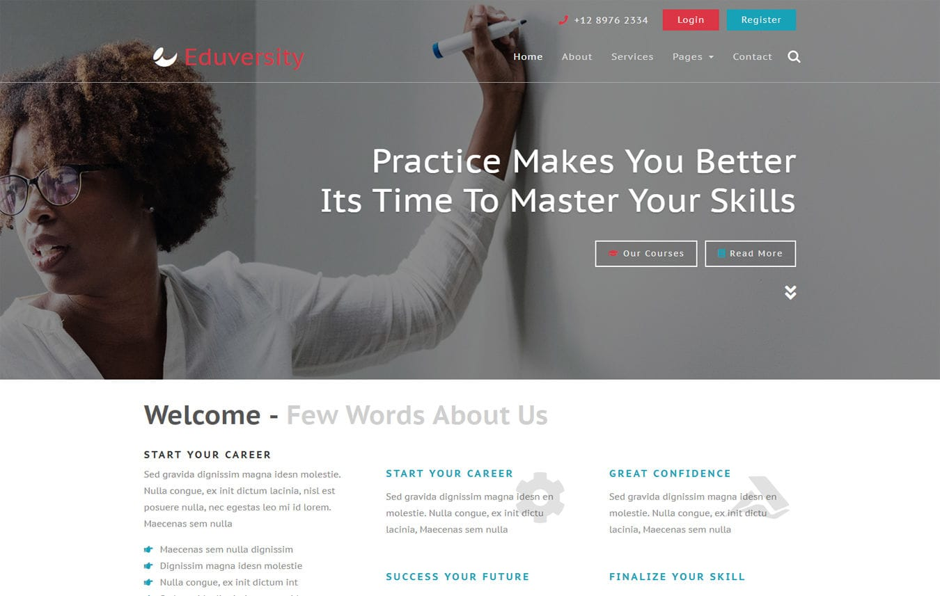 Learner a Educational Flat Responsive web template by w3layouts