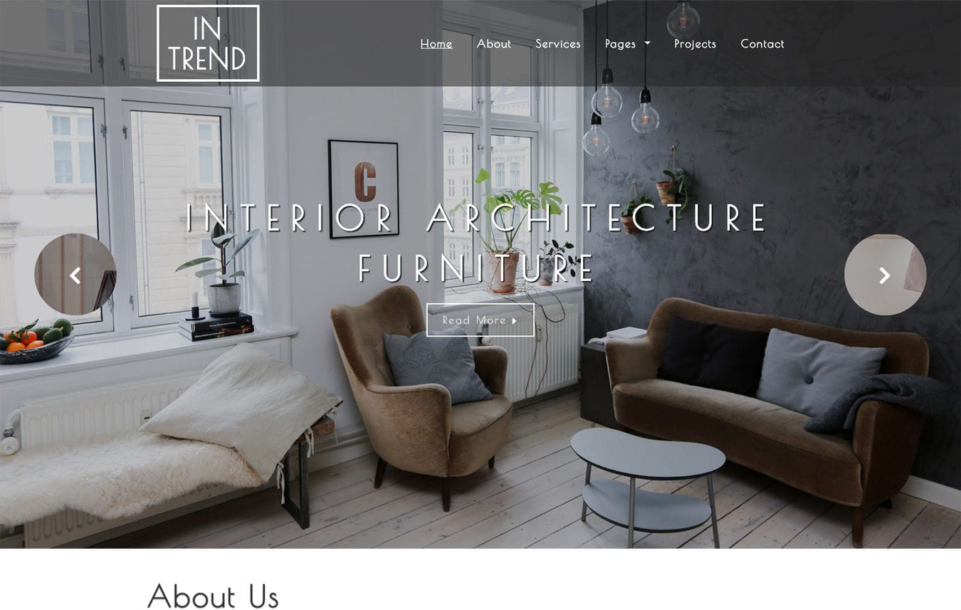 Interior And Furniture Responsive Mobile Web Templates