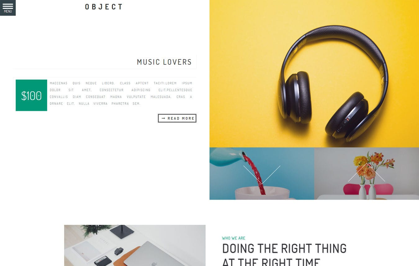 Object Multipurpose Bootstrap Responsive Web Template. Mobile website template Free