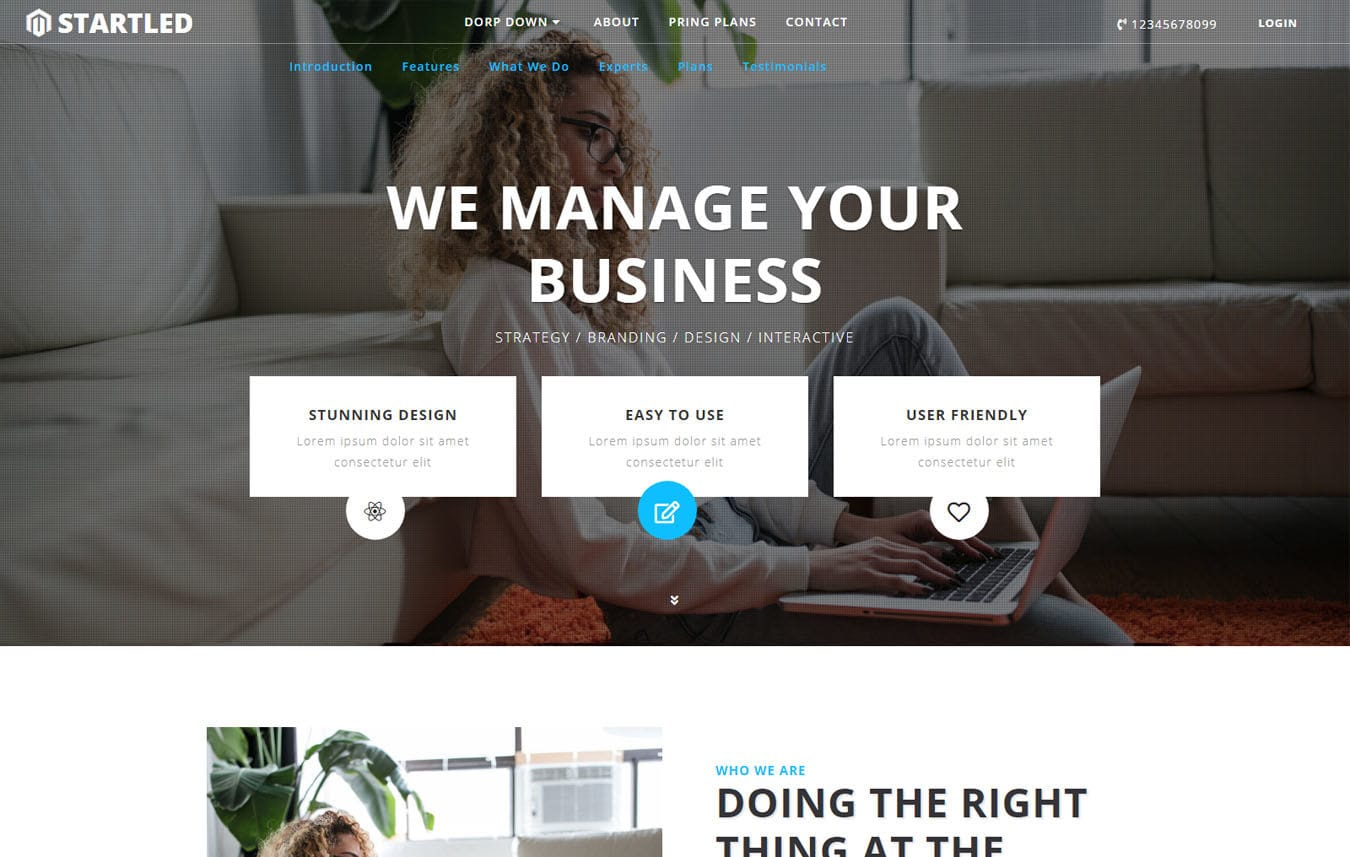 Corporate business mobile website templates startled corporate category bootstrap responsive web template mobile website template free cheaphphosting Gallery